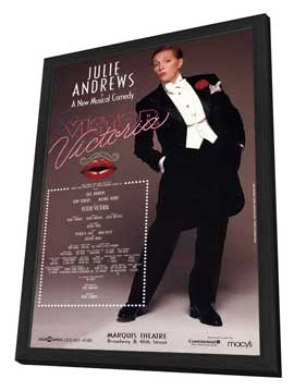 Victor Victoria (Broadway) - 27 x 40 Poster - Style A - in Deluxe Wood Frame