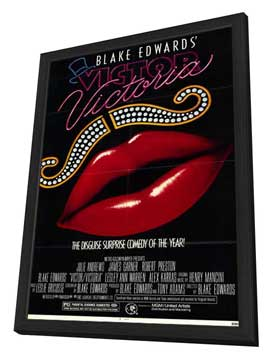 Victor/Victoria - 11 x 17 Movie Poster - Style A - in Deluxe Wood Frame