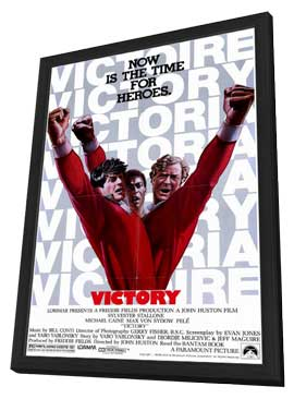 Victory - 27 x 40 Movie Poster - Style A - in Deluxe Wood Frame