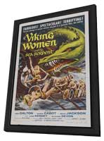 Viking Women and the Sea Serpent - 11 x 17 Movie Poster - Style A - in Deluxe Wood Frame