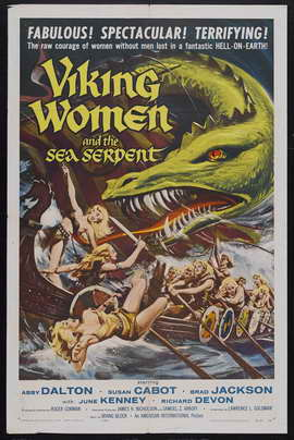 Viking Women and the Sea Serpent - 11 x 17 Movie Poster - Style A