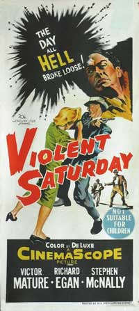 Violent Saturday - 14 x 36 Movie Poster - Australian Style A