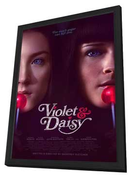Violet & Daisy - 11 x 17 Movie Poster - Style B - in Deluxe Wood Frame