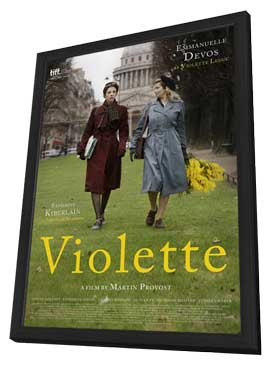Violette - 27 x 40 Movie Poster - French Style A - in Deluxe Wood Frame