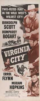 Virginia City - 14 x 36 Movie Poster - Insert Style B
