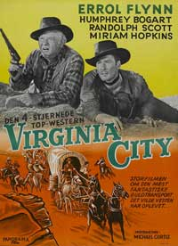 Virginia City - 11 x 17 Movie Poster - Danish Style A
