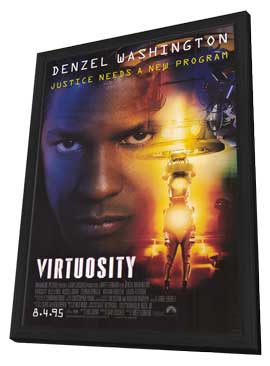 Virtuosity - 11 x 17 Movie Poster - Style A - in Deluxe Wood Frame