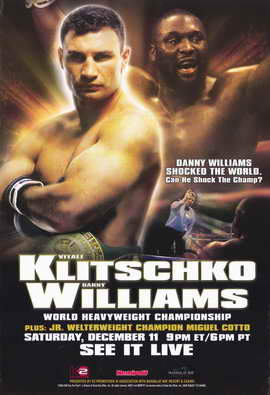 Vitali Klitschko vs Danny Williams - 11 x 17 Boxing Promo Poster - Style A