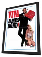 Viva James Bond - 11 x 17 Movie Poster - Style A - in Deluxe Wood Frame