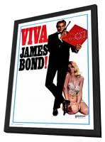 Viva James Bond - 27 x 40 Movie Poster - Style A - in Deluxe Wood Frame