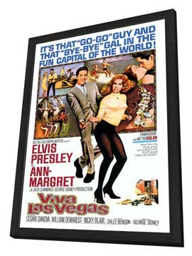Viva Las Vegas - 27 x 40 Movie Poster - Style A - in Deluxe Wood Frame