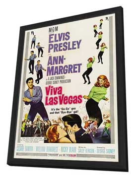 Viva Las Vegas - 27 x 40 Movie Poster - Style B - in Deluxe Wood Frame