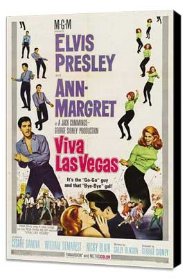 Viva Las Vegas - 27 x 40 Movie Poster - Style B - Museum Wrapped Canvas