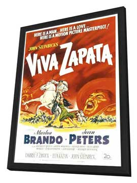 Viva Zapata! - 27 x 40 Movie Poster - Style A - in Deluxe Wood Frame