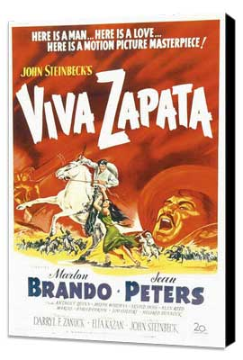 Viva Zapata! - 27 x 40 Movie Poster - Style A - Museum Wrapped Canvas