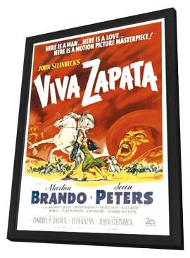 Viva Zapata! - 11 x 17 Movie Poster - Style B - in Deluxe Wood Frame