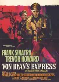 Von Ryan's Express - 11 x 17 Movie Poster - Belgian Style A