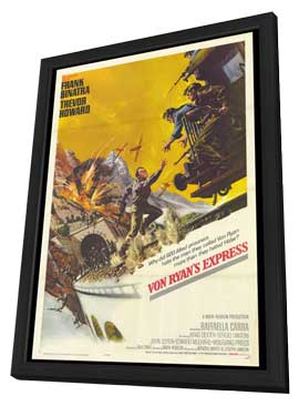 Von Ryan's Express - 27 x 40 Movie Poster - Style A - in Deluxe Wood Frame