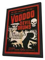 Voodoo Devil Drums - 11 x 17 Movie Poster - Style A - in Deluxe Wood Frame