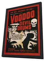 Voodoo Devil Drums - 27 x 40 Movie Poster - Style A - in Deluxe Wood Frame