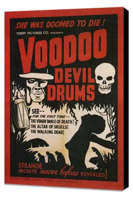 Voodoo Devil Drums - 11 x 17 Movie Poster - Style A - Museum Wrapped Canvas