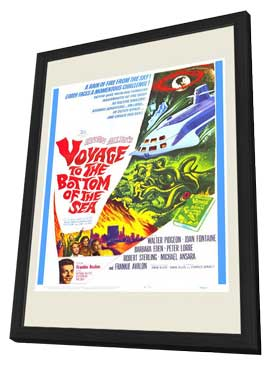 Voyage to the Bottom of the Sea - 11 x 17 Movie Poster - Style B - in Deluxe Wood Frame