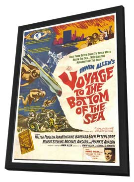 Voyage to the Bottom of the Sea - 27 x 40 Movie Poster - Style A - in Deluxe Wood Frame