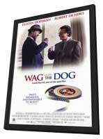 Wag the Dog - 11 x 17 Movie Poster - Style B - in Deluxe Wood Frame