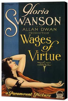 Wages of Virtue - 11 x 17 Museum Wrapped Canvas