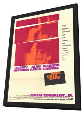 Wait until Dark - 11 x 17 Movie Poster - Style A - in Deluxe Wood Frame