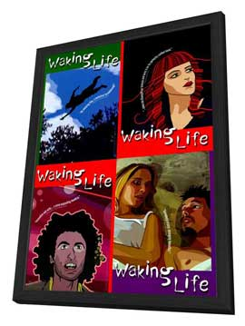 Waking Life - 27 x 40 Movie Poster - Style A - in Deluxe Wood Frame