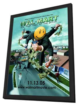 Wal-Mart: The High Cost of Low Price - 11 x 17 Movie Poster - Style B - in Deluxe Wood Frame