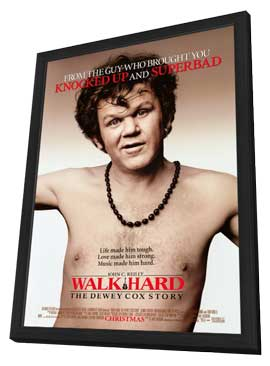 Walk Hard: The Dewey Cox Story - 11 x 17 Movie Poster - Style A - in Deluxe Wood Frame