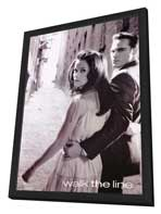 Walk the Line - 27 x 40 Movie Poster - Style D - in Deluxe Wood Frame