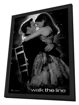 Walk the Line - 27 x 40 Movie Poster - Style C - in Deluxe Wood Frame