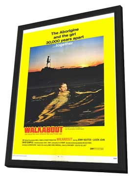 Walkabout - 11 x 17 Movie Poster - Style B - in Deluxe Wood Frame