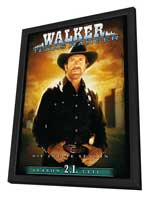 Walker, Texas Ranger - 27 x 40 TV Poster - Germany Style A - in Deluxe Wood Frame