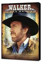 Walker, Texas Ranger - 27 x 40 TV Poster - Style A - Museum Wrapped Canvas