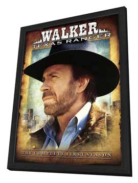 Walker, Texas Ranger - 27 x 40 TV Poster - Style A - in Deluxe Wood Frame