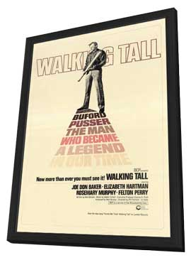Walking Tall - 27 x 40 Movie Poster - Style B - in Deluxe Wood Frame