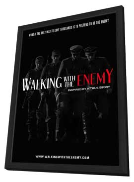 Walking with the Enemy - 27 x 40 Movie Poster - Style A - in Deluxe Wood Frame