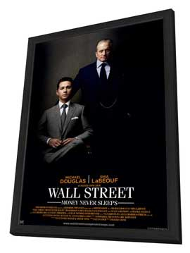 Wall Street: Money Never Sleeps - 27 x 40 Movie Poster - Style A - in Deluxe Wood Frame
