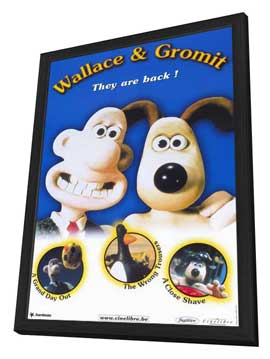 Wallace & Gromit: The Best of Aardman Animation - 11 x 17 Movie Poster - Style B - in Deluxe Wood Frame