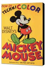 Walt Disney's Mickey Mouse - 11 x 17 Movie Poster - Style B - Museum Wrapped Canvas