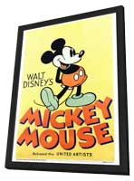 Walt Disney's Mickey Mouse - 27 x 40 Movie Poster - Style A - in Deluxe Wood Frame
