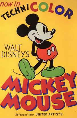 Walt Disney's Mickey Mouse - 11 x 17 Movie Poster - Style B