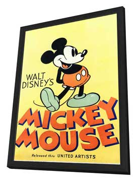 Walt Disney's Mickey Mouse - 11 x 17 Movie Poster - Style A - in Deluxe Wood Frame