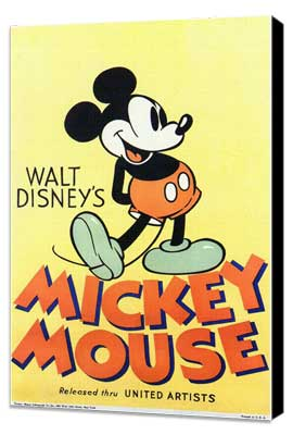 Walt Disney's Mickey Mouse - 11 x 17 Movie Poster - Style A - Museum Wrapped Canvas