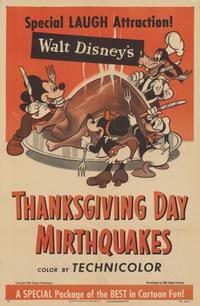 Walt Disney's Thanksgiving Day Mirthquakes - 11 x 17 Movie Poster - Style A