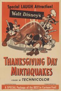 Walt Disney's Thanksgiving Day Mirthquakes - 27 x 40 Movie Poster - Style A